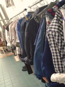 blauwe kleren